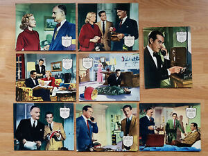Hitchcock DIAL M FOR MURDER - 8 rare German lobby cards 1960 GRACE KELLY 1953