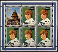 Niue 1981 SG#518 $1.10 On 95c Royal Wedding MNH Sheetlet #D38020