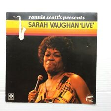 Sarah Vaughan Ronnie Scott's Presents Sarah Vaughan Live Pye UK LP