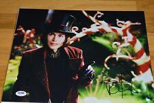 "Johnny Depp Autographed "" Charlie & The Chocolate Factory "" 11x14 Photo PSA COA"