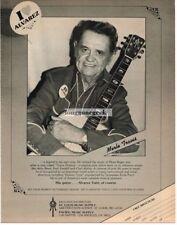 1982 ALVAREZ YAIRI Acoustic Guitar MERLE TRAVIS Vtg Print Ad