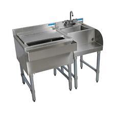 """Bk Resources 42"""" Stainless Steel Underbar Blender/Ice Bin Workstation"""