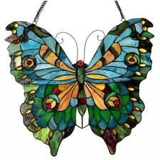 Stained Glass Panel for Window Tiffany Style Suncatchers Butterfly Victorian
