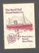 Swap Playing Cards 1 VINT WIDE THE ROYAL MAIL STEAM PACKET CO SHIPPING ADVT S91