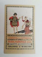 Cartolina Giardino della Cittadella Dante Alighieri festa fiera Torino