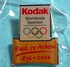 Back to Athens 1896-2004 Kodak Olympic Pin -New in Package