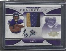 RAY RICE 2008 DONRUSS THREADS ROOKIE COLLECTION 3 COLOR PATCH AUTO RC #D 22/25