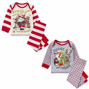 Baby Christmas Pyjama Set 2 Designs, Xmas festive sleepwear nightwear PJ'S