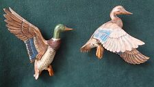 VINTAGE MALLARD DUCK  PAIR Top Quality Wall Hanging Plaques