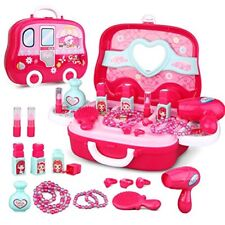 Role Play Jewelry Kit for Girls Toy Set Princess Suitcase Gift for Kids Children