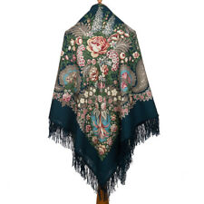 "ORIGINAL PAVLOVO POSAD SHAWL RUSSIAN SCARF WOOL CAPE KNIT PASHMINA 146cm/57"" NEW"