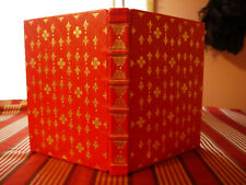 Blank Page Book Red Leather Gold Gilding Hand Bookbinding