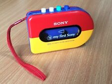 SONY WALKMAN Vintage My First Sony Red Yellow Cassette Tape Player WM-3300