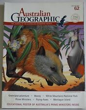 Australian Geographic Magazine Number 62 2001 Poster inside