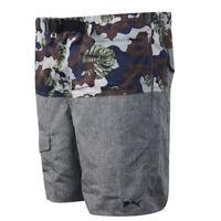 Puma Multicoloured Grey Patterned Polyester Mens Board Shorts 568711 01 R8O