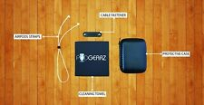PODGEARZ Apple Airpods Bundle - Case, Strap, Cleaning Towel and Cable Fastener