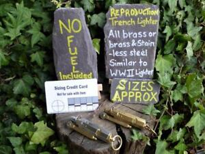 Repro Vintage WW1 Trench Lighter choice of 2 finishes Bushcraft Survival Camping