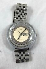 FULLY WORKING LARGE VINTAGE AUTOMATIC DAY DATE TIMEX WATCH  1970's
