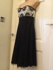 Warehouse Black Baendeau Party Dress size 10
