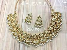 Latest Beautiful Indian traditional Kundan silver ethnic Bridal Necklace jewlery