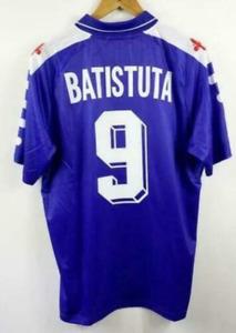 Fiorentina #9 BATISTUTA RETRO SOCCER VINTAGE FOOTBALL SHIRT JERSEY WORLD CUP hg