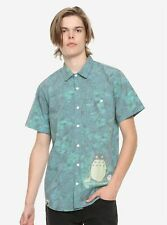 Mens 30th Anniversary of My Neighbor Totoro Woven Button-Up Shirt