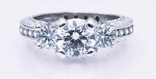 Ideal Cut VVS1 $25,500 Authentic TACORI 18K 2.30ctw EGL USA Engagement Ring