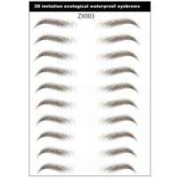 3D Haar-wie authentische Augenbrauen Pflege Augenbrauen Augenbr Aufkleber D7Y2