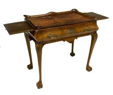 Chippendale Style Burlwood Tea Table, Late 19Thc. ( 1800s )