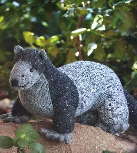 "DK Knitting Pattern For Ferret Animal Toy 14"" In Length"