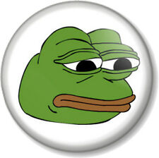 "PEPE THE FROG SAD FACE 25mm 1"" Pin Button Badge Internet Meme 4chan Humour Alt"