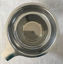 Stainless Steel Reusable Strainer Mesh Filter, w/handle, for loose leaf tea cups