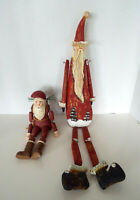 "Vintage Santa Shelf Sitter Collection 11""- 24"" Carved Wood Father Christmas Lot"