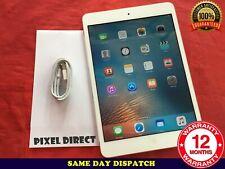 Apple iPad mini 16GB WiFi 7.9in White Silver iOS 9 Grade C Condition  - Ref 214