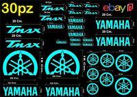 MAXI KIT 30 PEZZI SERIE DI ADESIVI YAMAHA TMAX  T- MAX 500 - 530 COLORE CELESTE