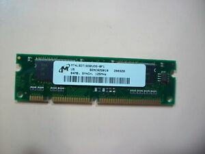 Micron 64MB PC-125 100-pin SDRAM Router memory module (MT4LSDT1632UDG-BF1)
