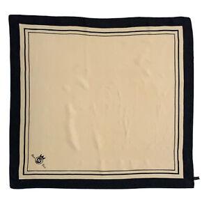 MANA STRIPES BEIGE LARGE silk Scarf   28/27 in #A90