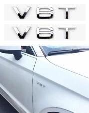 2pcs V6T Logo Emblem Schriftzug für Audi A1 A3 A4 A5 A6 Q3 Q5 Q7 S3 S4 S5 S6 ABS