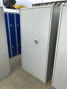 Retro Metal Roneo Vickers Cabinet Cupboard Locker Garage Storage Shelves cab 2
