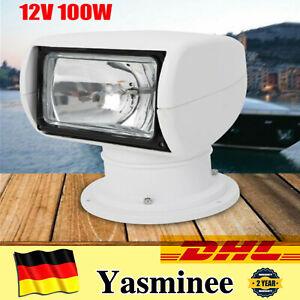 12V 100W Marine Fernbedienung Suchscheinwerfer Boot Suchlicht + Fernbedienung