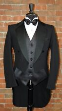 MENS 54 R BLACK PINSTRIPE TAIL TUXEDO JACKET / PANT / SHIRT / BOW by LORD WEST