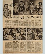 1950 PAPER AD Doll Tickletoes Ideal Campbell Kids Jointed Soft Mask-Face Cowboy