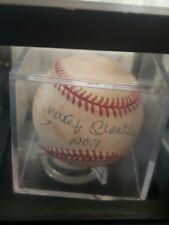 """Mickey Mantle autograph """"No.7"""" Signed OAL (Brown) Baseball authenticated by JSA"""