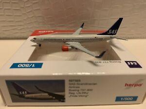 Herpa Wings B 737-800 W SAS 1:500