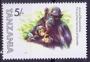 Tanzania 1982 MNH, Gorilla Fifi featured in Film, Animal Personalities