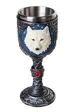 White Wolf Spirit 7oz Wine Chalice Goblet Figurine Statue