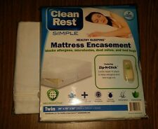 Clean Rest bed bug mattress boxspring Twin Size cover encasement set