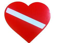 Scuba Dive Bumper Sticker Heart Dive Flag DS60