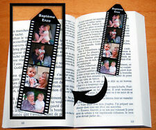 Mini marque page photos personnalise avec 4 photos recto verso identiques