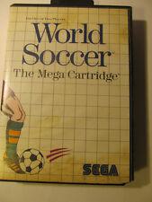 Sistema Mundial de fútbol SEGA MASTER 1987 caja del juego solamente